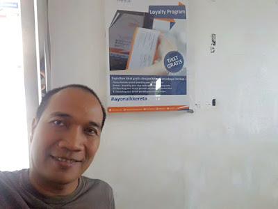 Banner tiket kereta api gratis dari KAI Loyalty Peogram