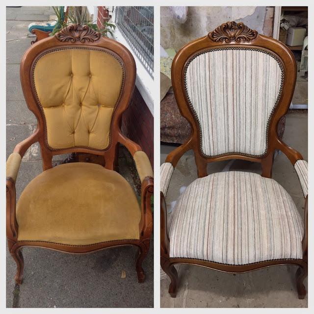 Doyounoah: French Louis Chair Reupholster