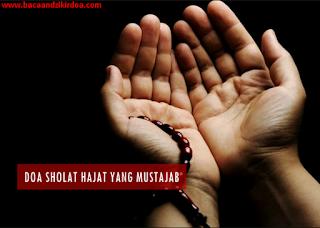Bacaan Niat dan Doa Sholat Hajat Arab Latin dan Terjemahannya