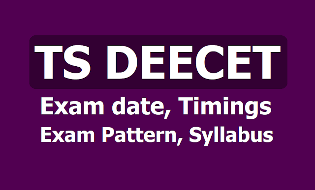 TS DEECET 2019 Exam date, timings, Exam Pattern, Syllabus