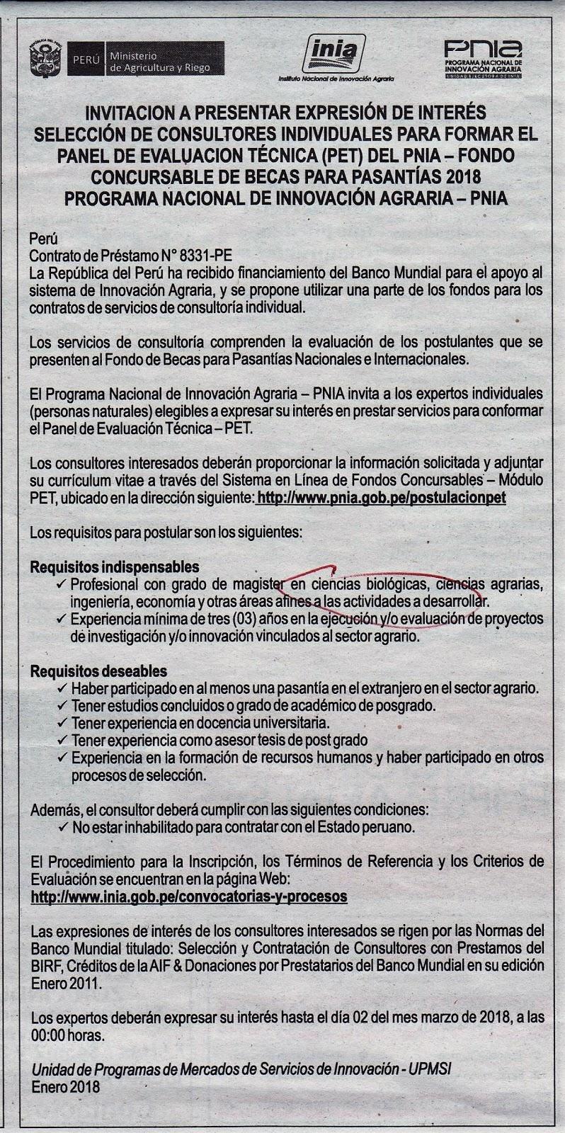 PeruBiólogos: 2018