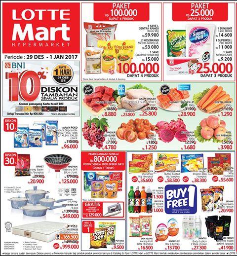 Katalog Harga Promo Akhir Pekan Lottemart Akhir 29 Desember – 1 Januari 2017