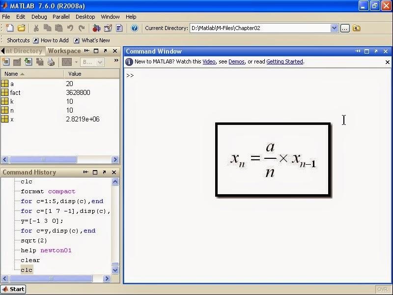 Product Design Engineering: MATLAB Tutorial - MATLAB Matrix