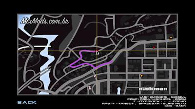 gta sa mod radar estilo gta v iv desenho do mapa map