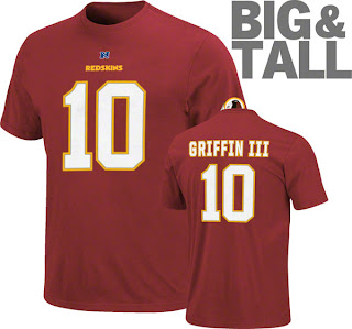 RG III Big and Tall Jersey, Robert Griffin Big and Tall Tee