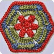Hexágono a Crochet o Ganchillo