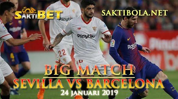 Prediksi Sakti Taruhan bola Sevilla vs Barcelona 24 Januari 2019