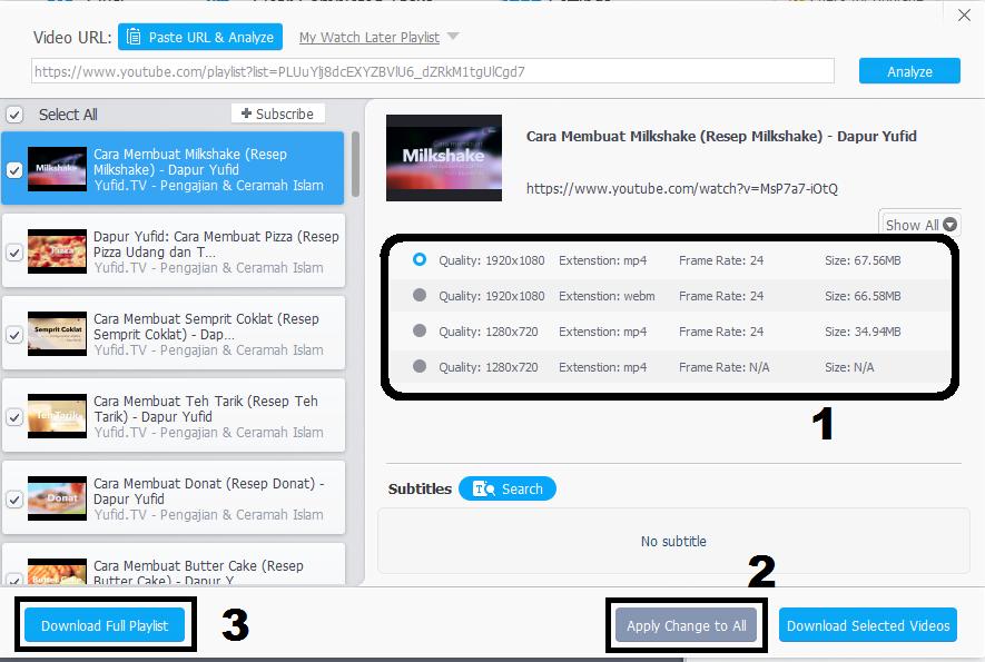 3 Cara Download Seluruh Video Dalam Satu Playlist YouTube dengan Mudah