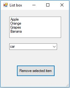 Remove selected item from listbox combobox in VB