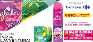 Logo Con Carrefour e Glade vinci lo shopping per 3.000 euro a Milano
