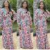 Mercy Johson stuns in flowery dress
