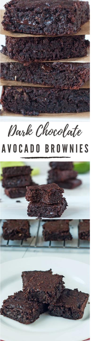 Dark Chocolate Avocado Brownies #brownies #dessert