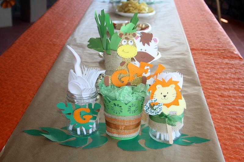 decoracion de cumpleaños animales de la selva