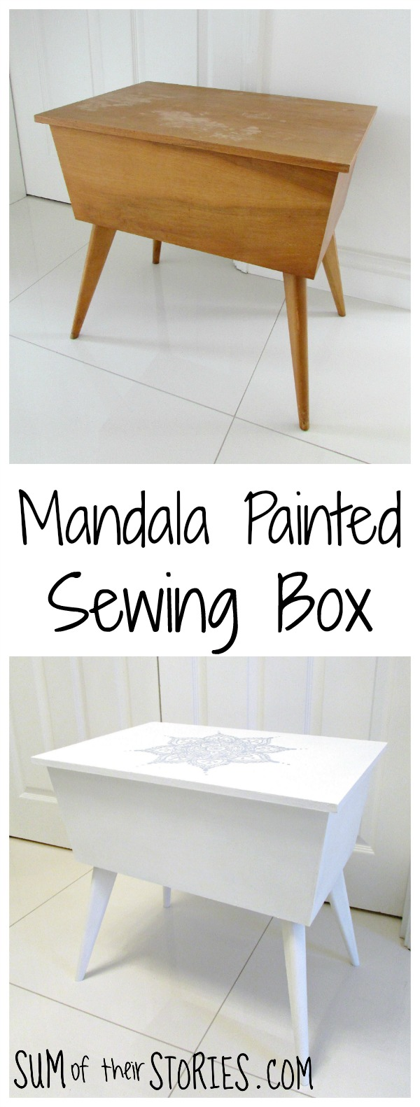 Mandala Painted Sewing Box
