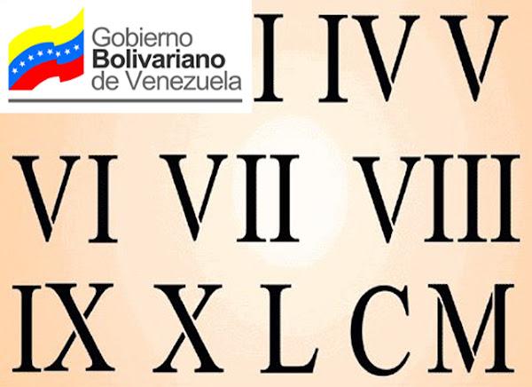 Régimen de Maduro sustituirá sistema numérico ordinario por números romanos