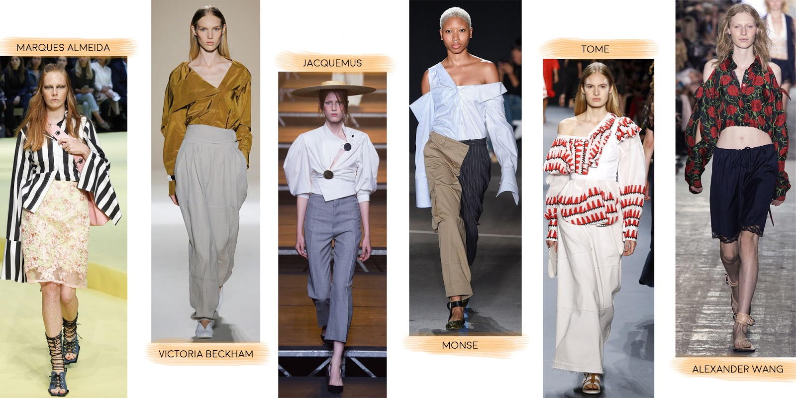 Modern deconstructed shirts as seen on the catwalk