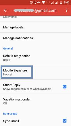 Mobile Signature option