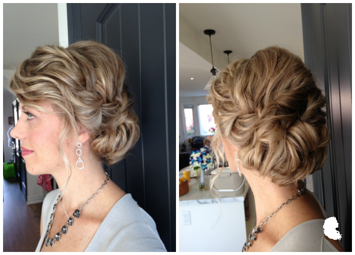 loose french braided low updo hair: Taming Rapunzel