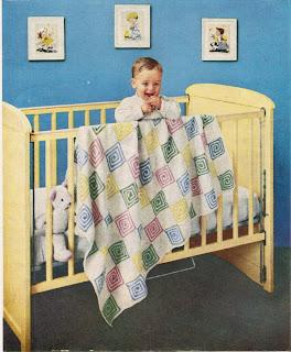 Granny Block Baby Blanket Crochet Pattern