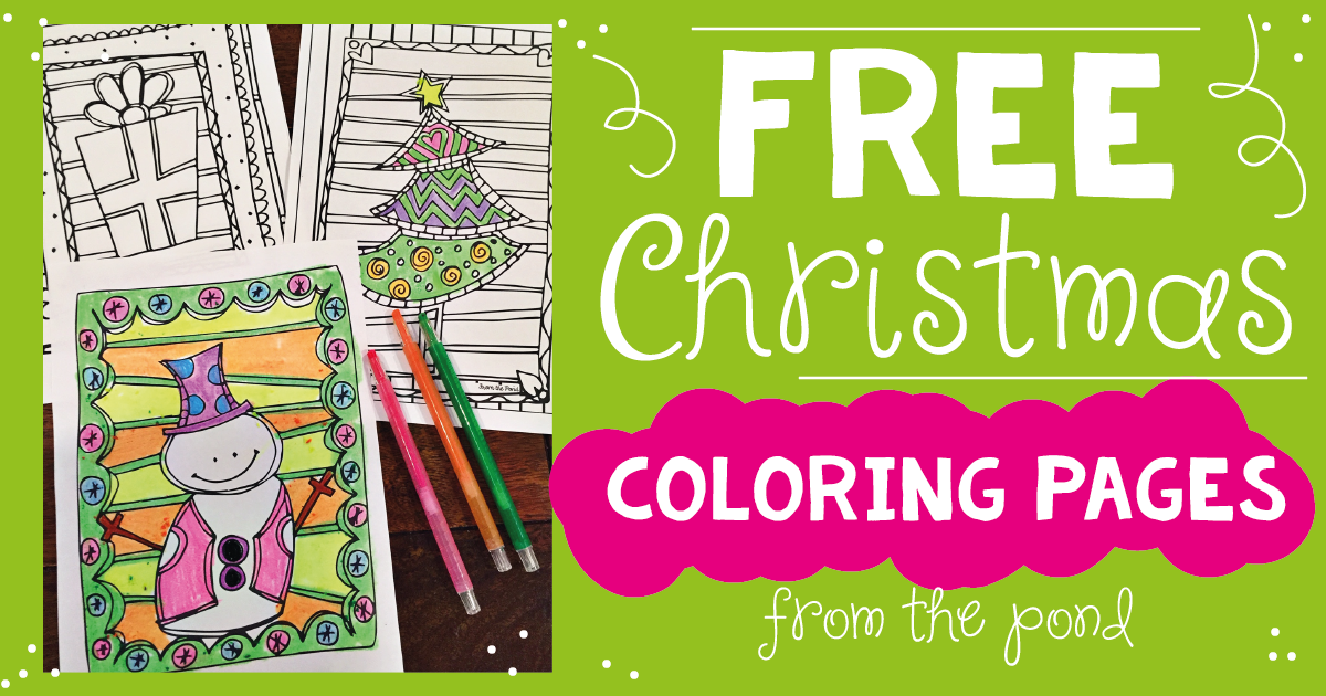 From The Pond: FREE Christmas Coloring Pages