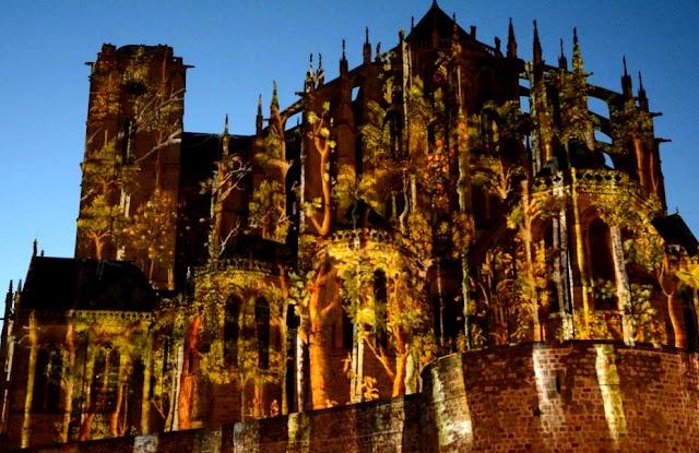 Kathedraal Saint-Julien, Nuit des Chimères Le Mans, lichtspektakel Le Mans