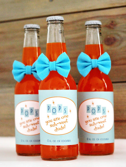 "Free Retro Printable Father's Day Soda Pop Labels ""Pops, You Are One Suh-weet Dude!"""