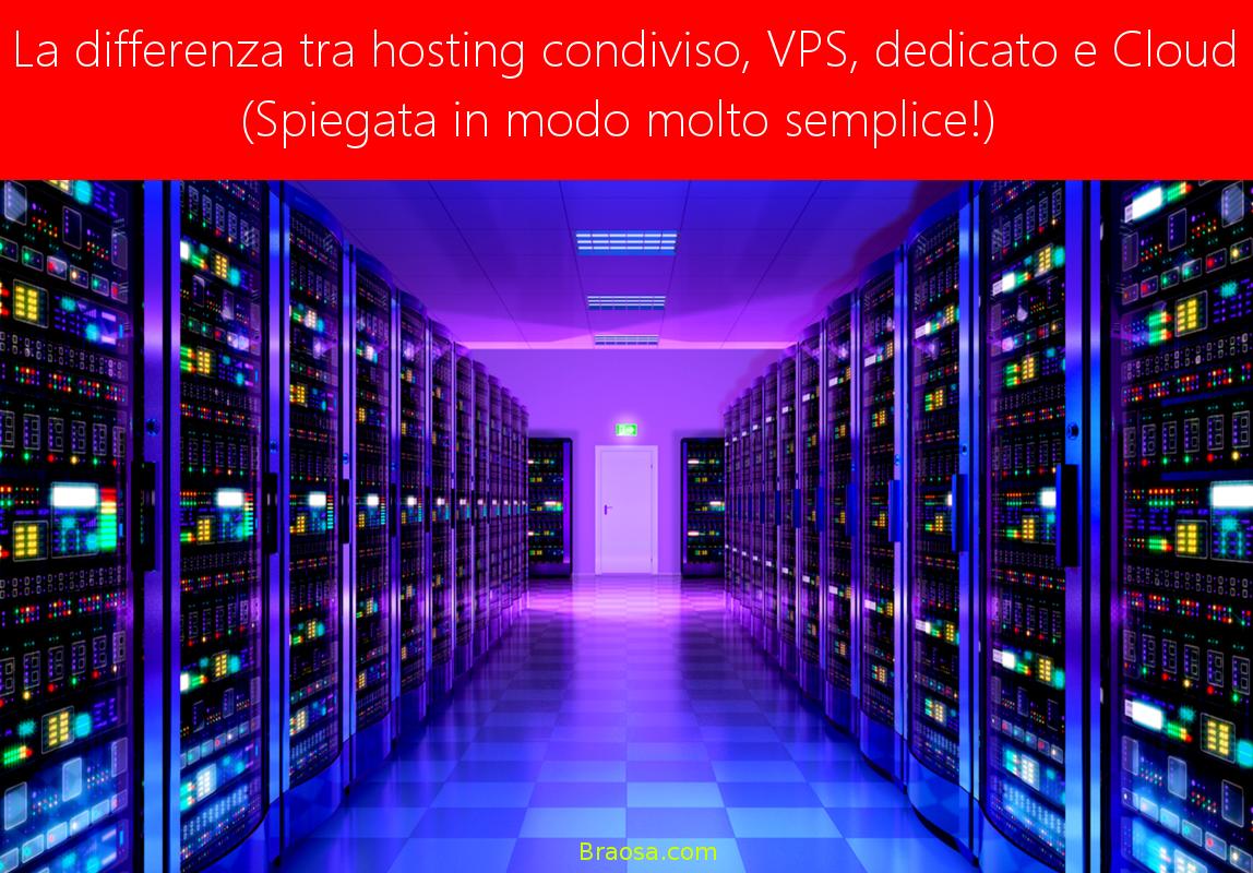 La differenza tra hostin condiviso, VPN, dedicato e Cloud e quale conviene utilizzare