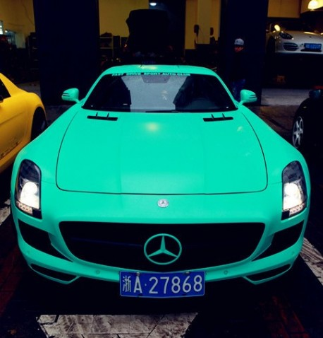 Mint Green And Yellow Sls Amg Combo Spotted
