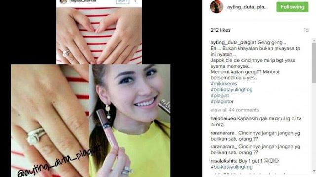 Cincin Ayu Ting Ting Sama dengan Milik Nagita, Netizen Curiga Raffi yang Belikan