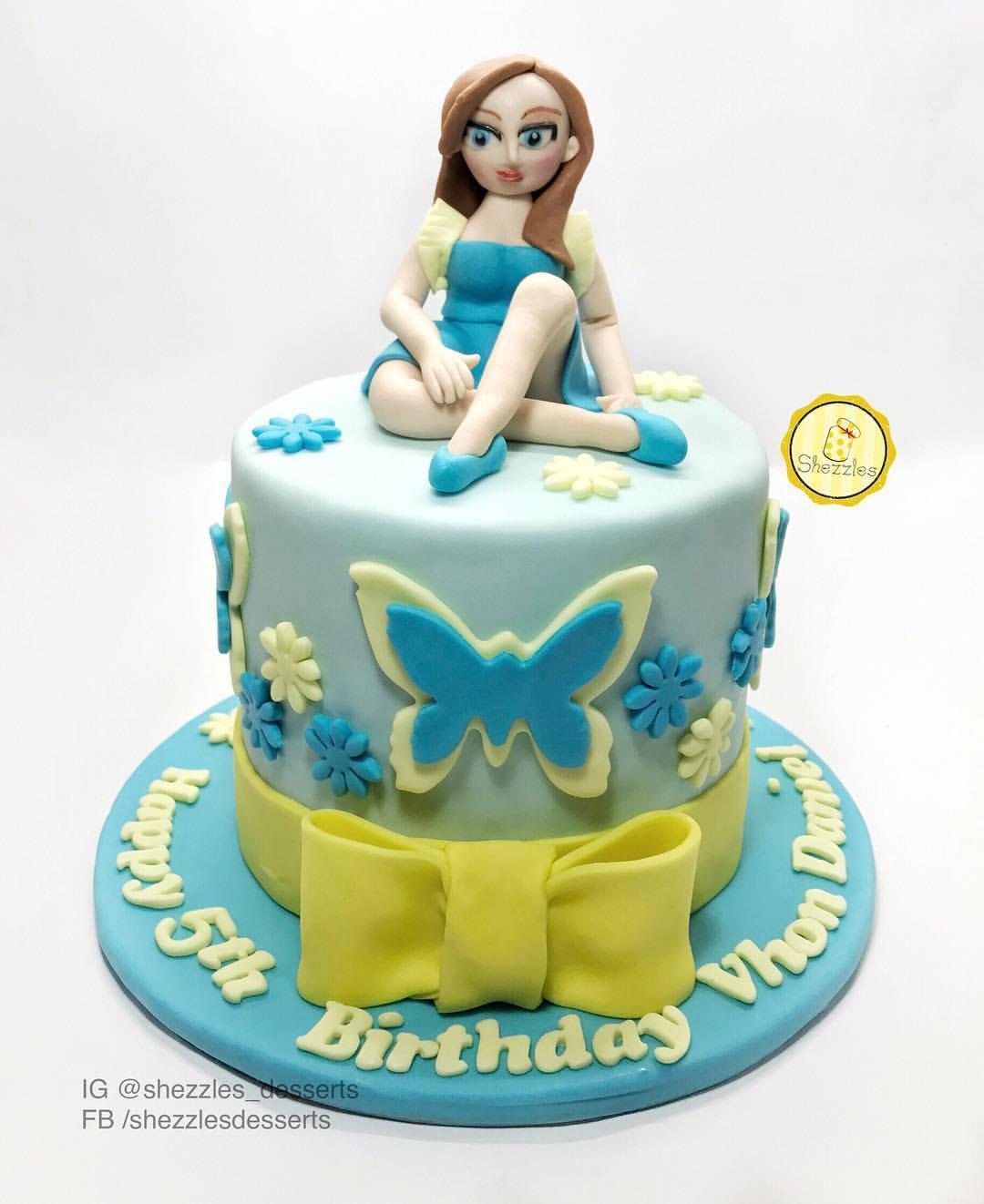 Shezzles Dessert In A Jar Doll Birthday Cake For Vhon Daniel