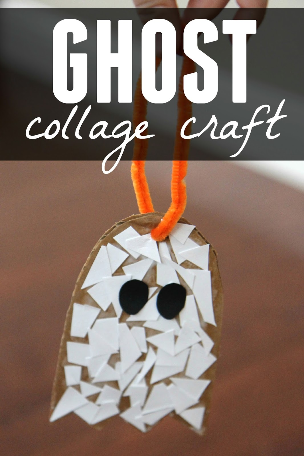 Toddler Approved Ghost Paper Scrap Craft For Preschoolers