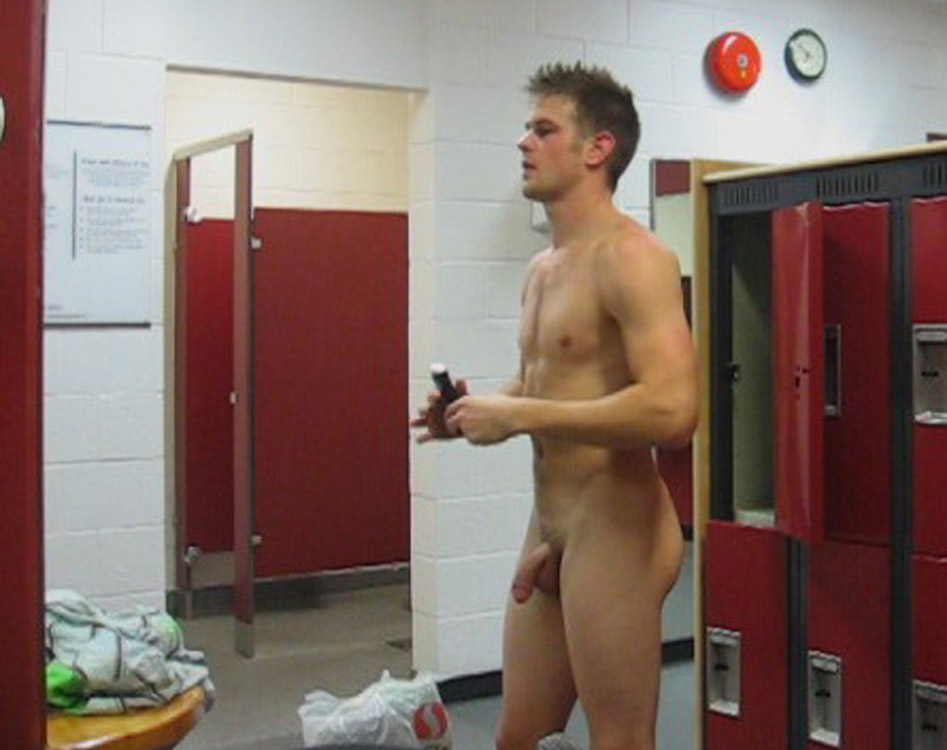 Sexy Blonde Guy Caught Nude