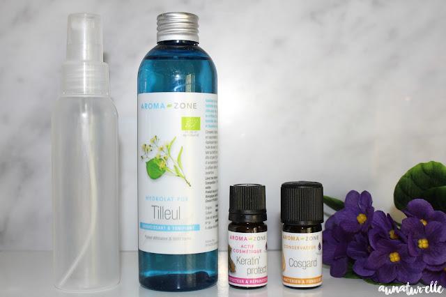 recette spray protecteur de chaleur naturel