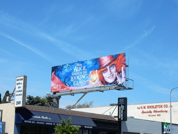 Disney Alice through Looking Glass billboard