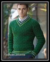 mujskaya pulover spicami foto shema i opisanie
