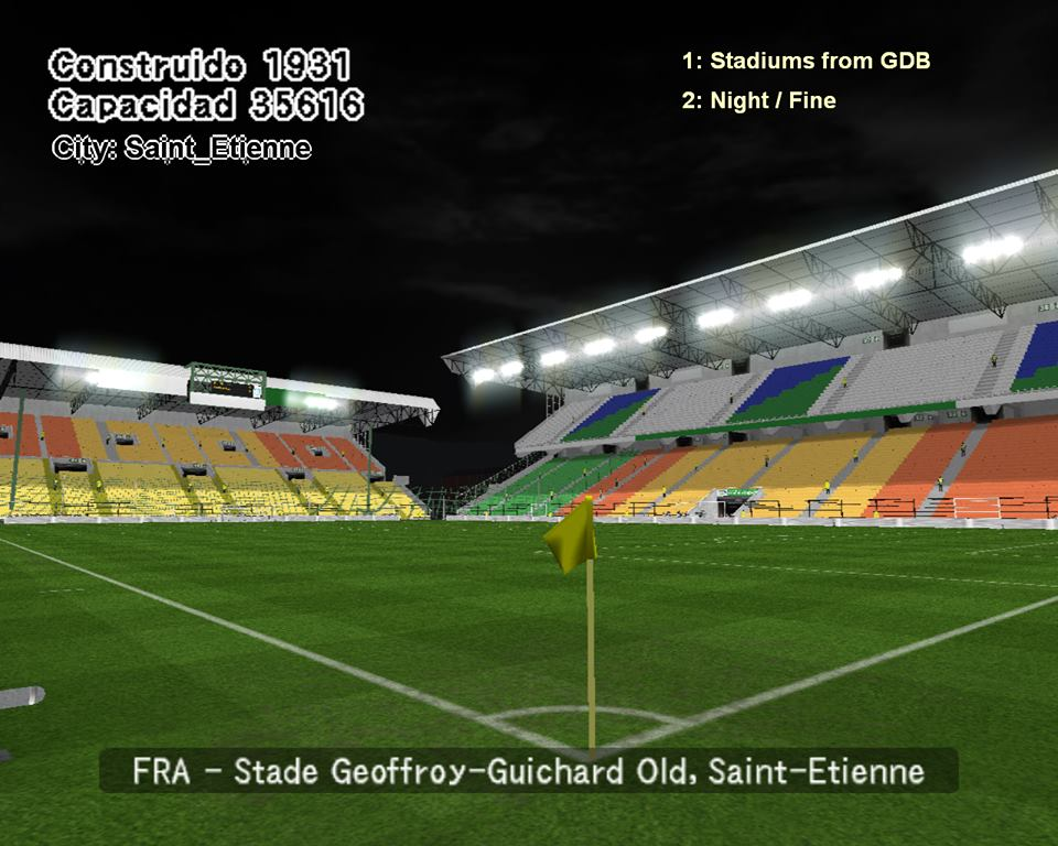 ultigamerz pes 6 france old stade geoffroy guichard saint etienne stadium. Black Bedroom Furniture Sets. Home Design Ideas