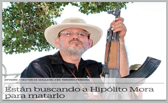 """HIPOLITO MORA """"DICE QUE lo QUIEREN MATAR"""" ,ACUSA COLUSION ESTATAL y FEDERAL en MICHOACAN"""