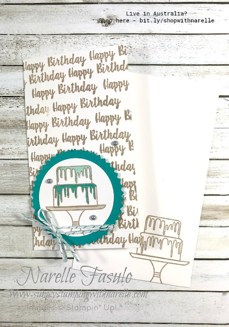 Need a quick and easy birthday card just like this? Well you can make one with our top quality products. See the full range here - http:/bit.ly/shopwithnarelle