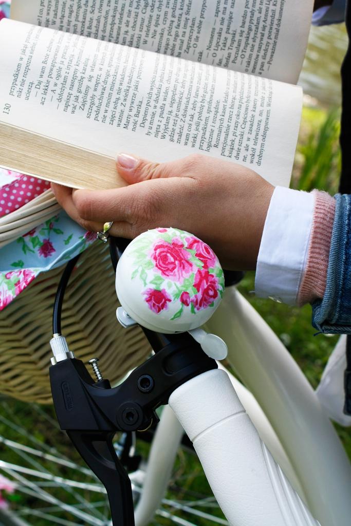 dzwonek do roweru róże