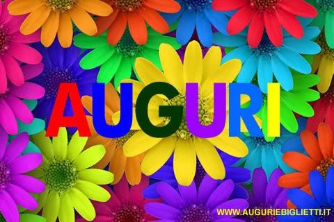 Biglietti di auguri di compleanno con margherite colorate