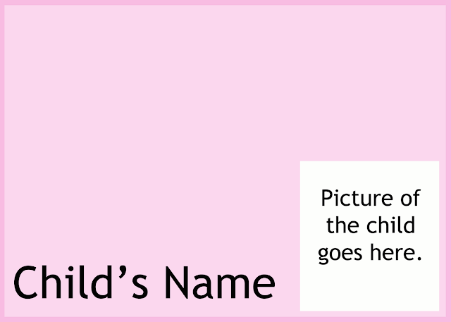 How to help preschoolers recognize their names - make name place mats from vinyl placemats