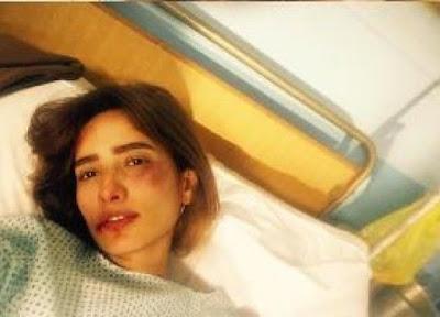 شاهد الفنانة زينة وهي في المستشفي بعد تعرضها لعلقة موت والفاعل معروف