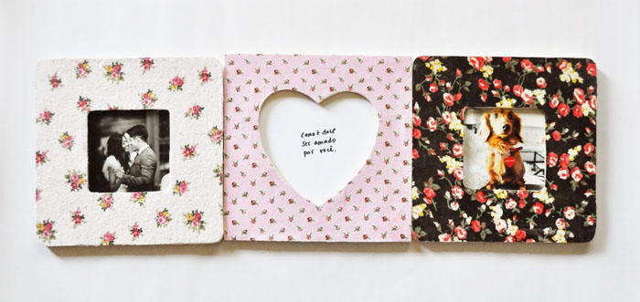 MAKE: DIY Fabric Photo Frames | Wonder Forest: Design Your Life.