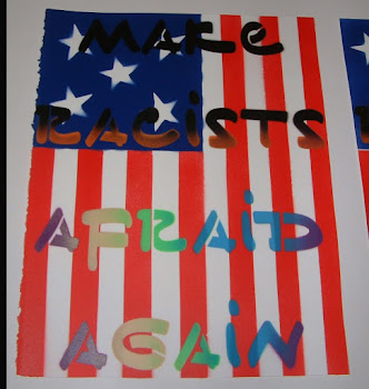 Make Racists Afraid Again Hand Painted Multiples Print