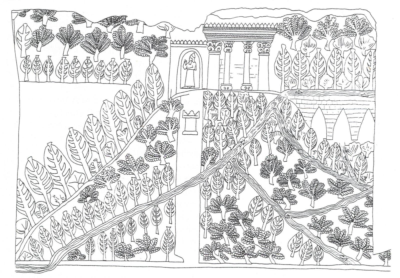 El arte como arte los jardines colgantes de babilonia for Iluminar jardin sin electricidad