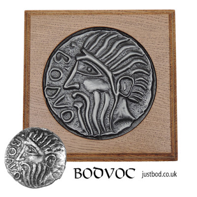 Bodvoc celtic coin wall plaque from Justbod