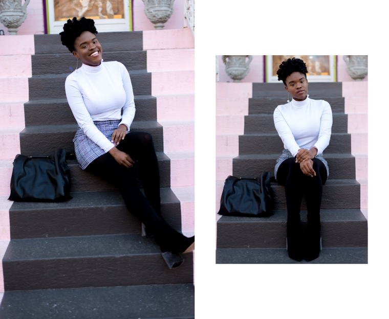 check print skirt plaid skirt