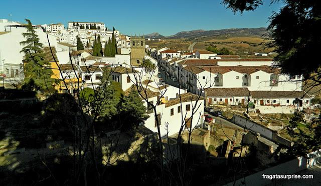 Vista dos Jardins do Palácio do Rei Mouro, em Ronda, Andaluzia