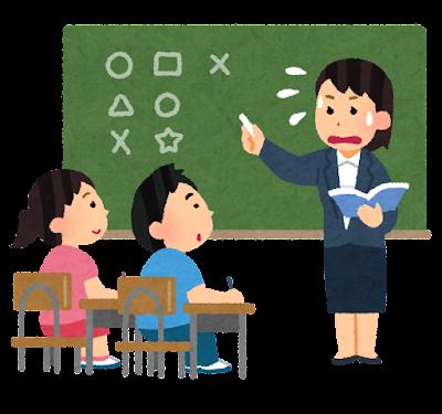 教えるのが下手な先生のイラスト(女性・小学校)