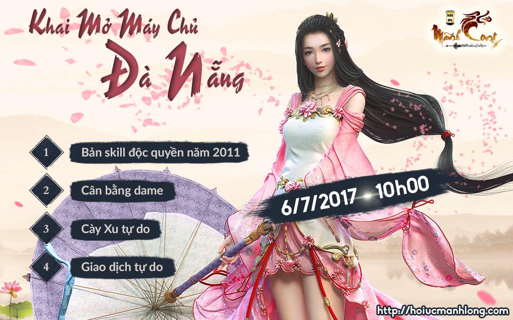 GIFT CODE Võ Lâm Truyền Kỳ KHỦNG nhân dịp Mở server Đà Nẵng 10h00 - 06/07/2017